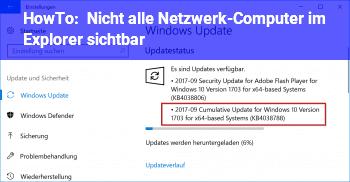 HowTo Nicht alle Netzwerk-Computer im Explorer sichtbar