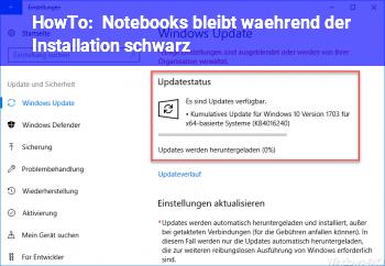 HowTo Notebooks bleibt während der Installation schwarz.