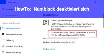 HowTo Numblock deaktiviert sich