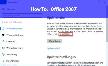 HowTo Office 2007