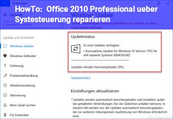 HowTo Office 2010 Professional über Systesteuerung reparieren