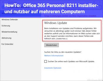 HowTo Office 365 Personal – installier- und nutzbar auf mehreren Computern?