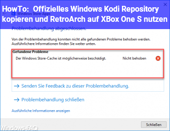 HowTo Offizielles Windows Kodi Repository kopieren und RetroArch auf XBox One S nutzen?