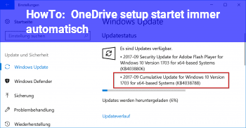 HowTo OneDrive setup startet immer automatisch