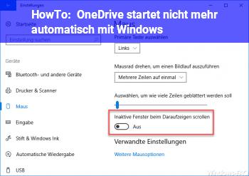 HowTo OneDrive startet nicht mehr automatisch mit Windows
