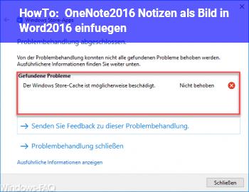 HowTo OneNote2016 Notizen als Bild in Word2016 einfügen