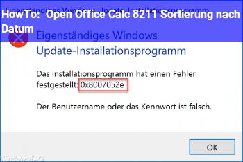 HowTo Open Office Calc – Sortierung nach Datum
