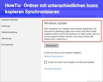 HowTo Ordner mit unterschiedlichen Icons kopieren / Synchronisieren