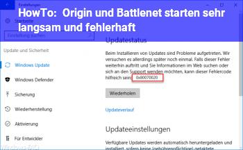 HowTo Origin und Battlenet starten sehr langsam und fehlerhaft
