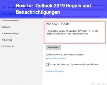 HowTo Outlook 2019 Regeln und Benachrichtigungen