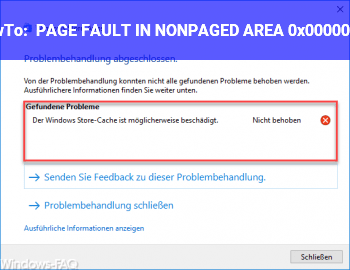 HowTo PAGE_FAULT_IN_NONPAGED_AREA 0x00000050
