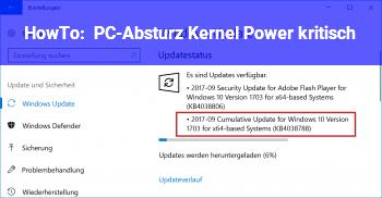 HowTo PC-Absturz Kernel Power kritisch