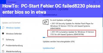 "HowTo PC-Start: Fehler ""OC failed…. please enter bios"" (so in etwa)"