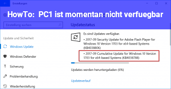 HowTo PC1 ist momentan nicht verfügbar