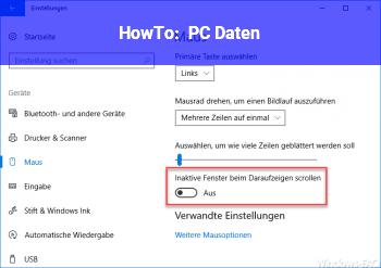 HowTo PC Daten