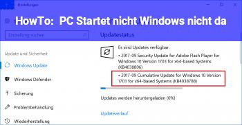 HowTo PC Startet nicht, Windows nicht da???