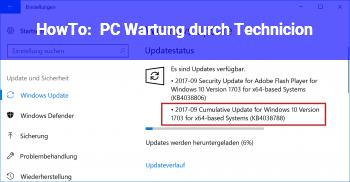 """HowTo PC_Wartung durch """"Technicion"""""""