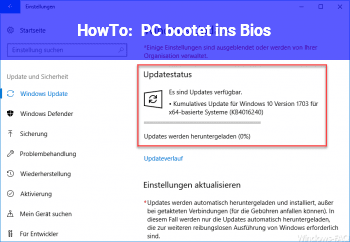 HowTo PC bootet ins Bios!