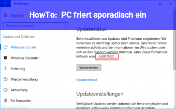 HowTo PC friert sporadisch ein