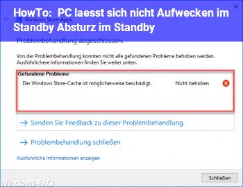 HowTo PC lässt sich nicht Aufwecken im Standby / Absturz im Standby??