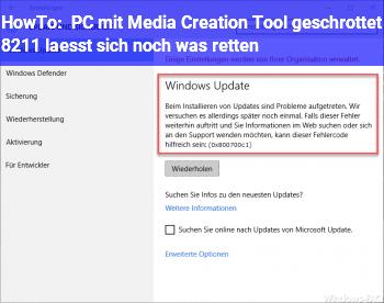HowTo PC mit Media Creation Tool geschrottet – lässt sich noch was retten?