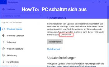 HowTo PC schaltet sich aus