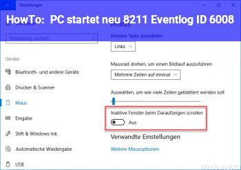 HowTo PC startet neu – Eventlog ID 6008