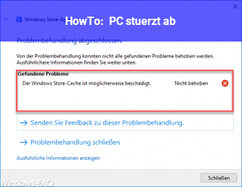 HowTo PC stürzt ab