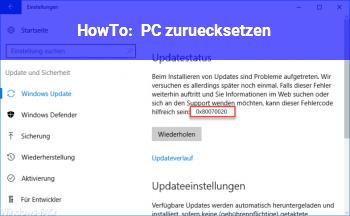 HowTo PC zurücksetzen