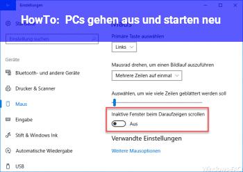 HowTo PCs gehen aus und starten neu!