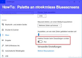 HowTo Palette an ntoskrnl.exe Blueescreens..