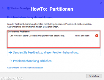 HowTo Partitionen