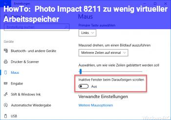 HowTo Photo Impact – zu wenig virtueller Arbeitsspeicher