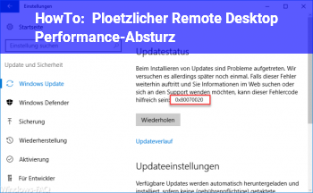 HowTo Plötzlicher Remote Desktop Performance-Absturz