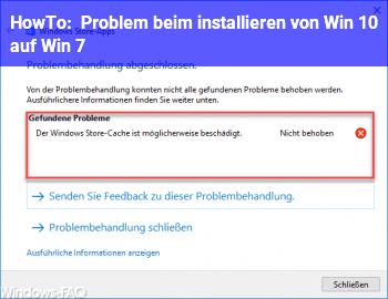HowTo Problem beim installieren von Win 10 auf Win 7