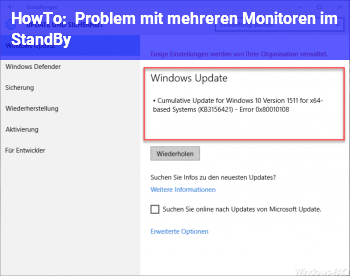 HowTo Problem mit mehreren Monitoren im StandBy