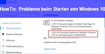 HowTo Probleme beim Starten von Windows 10