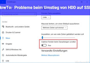 HowTo Probleme beim Umstieg von HDD auf SSD