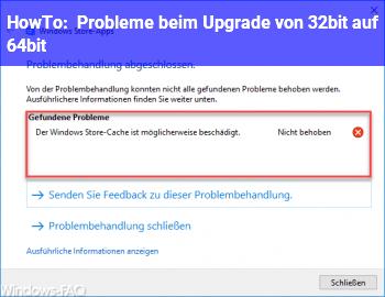 HowTo Probleme beim Upgrade von 32bit auf 64bit