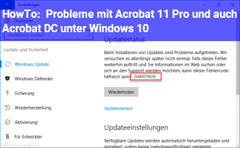 HowTo Probleme mit Acrobat 11 Pro und auch Acrobat DC unter Windows 10