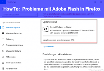 HowTo Probleme mit Adobe Flash in Firefox