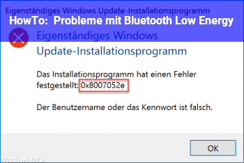 HowTo Probleme mit Bluetooth (Low Energy?)