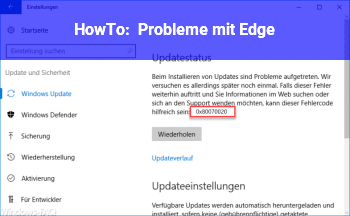 HowTo Probleme mit Edge