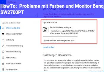 HowTo Probleme mit Farben und Monitor Benq SW2700PT