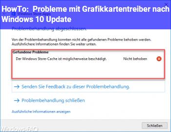 HowTo Probleme mit Grafikkartentreiber nach Windows 10 Update