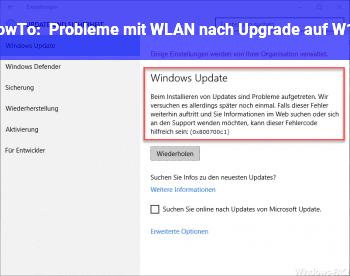 HowTo Probleme mit WLAN nach Upgrade auf W10