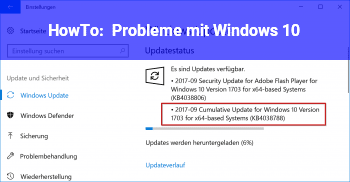 HowTo Probleme mit Windows 10