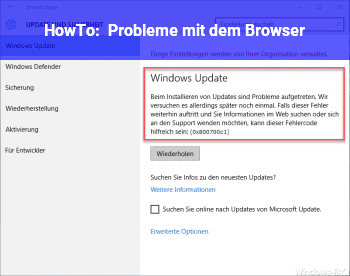 HowTo Probleme mit dem Browser