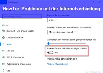 HowTo Probleme mit der Internetverbindung