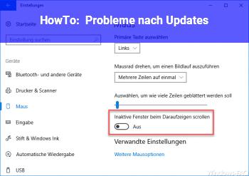 HowTo Probleme nach Updates